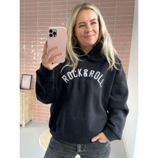 Holly | Hoodie Rock & Roll Zwart - Wit PRE-ORDER 08-11