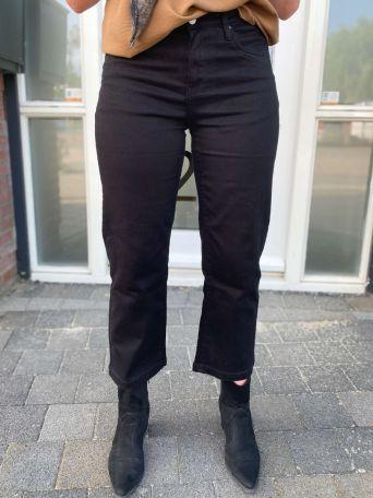 Eva | Jeans Straight Zwart