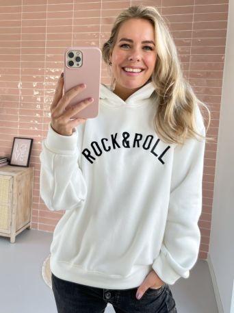 Holly | Hoodie Rock & Roll Wit - Zwart PRE-ORDER 08-11