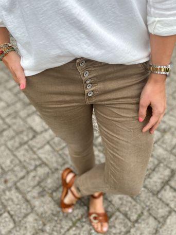 Bobbi| Jeans lichtbruin PRE-ORDER 13-08